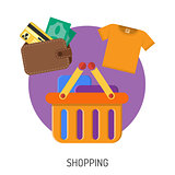 Internet Shopping Flat Icons