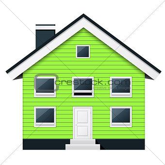 Green scandinavian condominium - green suburban townhouse