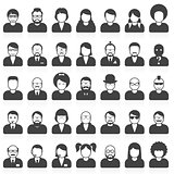 People avatars and userpics in different style and hairdo