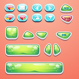 Set glamorous buttons with an OK button, buttons yes and no to computer games design and web design