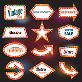 Retro banner retro motel sign
