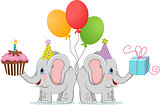Birthday funny elephants