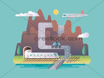 Transport infrastructure design flat
