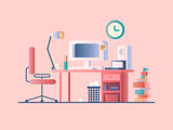 Workplace design flat