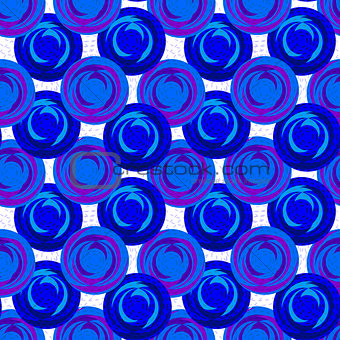 Abstract pattern of purple blue circles