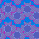 Pattern of lilac flowers in striped