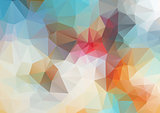 Light abstract triangle background