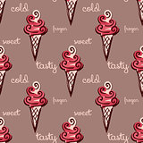 seamless pattern with ice-cream. vector