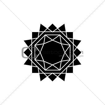 abstract isolated sun. vector. flat