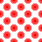 seamless pattern with bstract sun. vector. flat