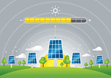 Solar panels energy charging