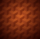 Dark Parquet 3d Seamless Floor Pattern