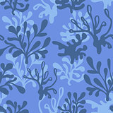 Vector underwater Seamless Pattern