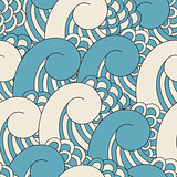 Vector Seamless Pattern with Waves