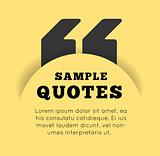 Quote blank template on yellow background.