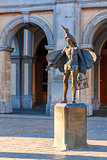 Statue of bird-catcher Papageno in Bruges, Belgium