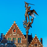 Statue of Archangel Michael in Ghent, Belgium