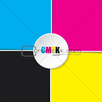 Abstract cmyk background with white stripes