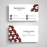 Business card with abstract triangles template