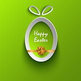 Easter card with abstract cut out egg template