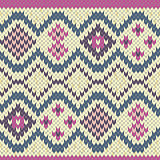 Knitted Seamless Pattern mainly in light grey