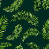 Vintage Seamless Palm Leaf Pattern