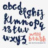 Messy Brush Lettering Vector