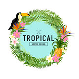 Tropical Wreath Vector