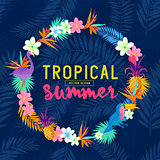 Vivid Tropical Wreath