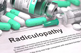 Diagnosis - Radiculopathy. Medical Concept.