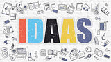 IDAAS in Multicolor. Doodle Design.