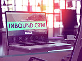 Laptop Screen with Inbound CRM Concept.
