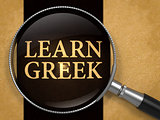 Learn Greek through Lens on Old Paper.