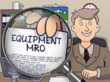 Equipment MRO through Lens. Doodle Concept.
