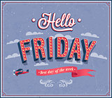 Hello Friday typographic design.
