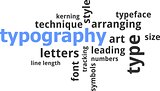 word cloud - typography