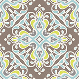 Abstract seamless ornamental vector pattern tiles
