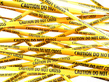Danger Caution Do Not Cross yellow ribbons