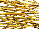 Crime Police Line Do Not Cross yellow ribbons