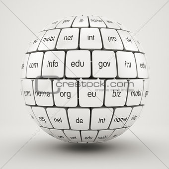 Group cubes in the sphere shape domain names