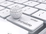 Group translation cubes in the sphere shape on the computer keyb