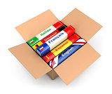 3d box with language books