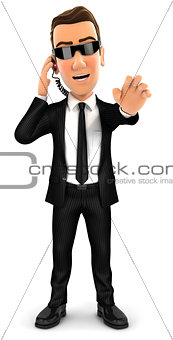 3d security agent stop gesture