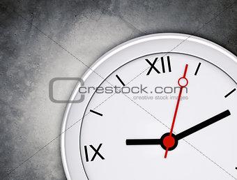 Clock on grey