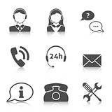 Support service icons set