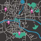 Vector city map