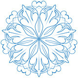 snowflake blue flower on a white background