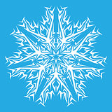 decorative white snowflakes on a blue background