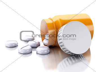 3D Bottle of pills