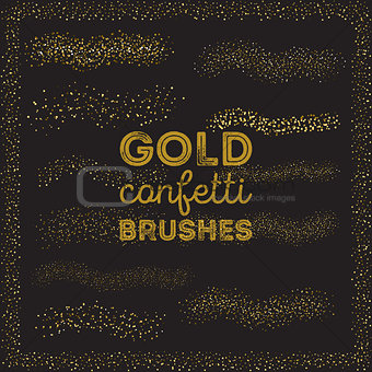 Gold confetti scatter brushes in brushes panel.